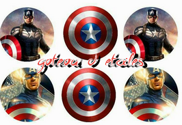 Disque azyme cupcakes Marvel Captain América