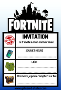 Invitation gratuite Fortnite