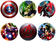 Disque azyme cupcakes Marvel The Avengers