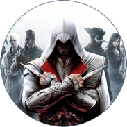 disque azyme Assassin creed decoration de gateau comestible