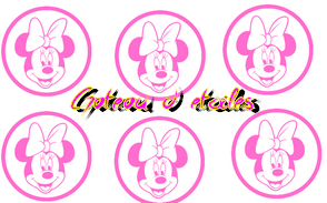 Disque azyme  Cupcakes Minnie