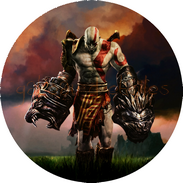 disque azyme God of war kratos decoration de gateau comestible