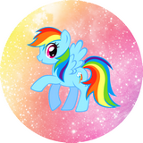 Disque azyme My little Rainbow dash