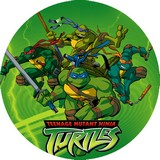 decoration de gateau en disque azyme tortues ninja
