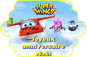 Etiquette azyme Super Wings