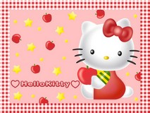 Disque azyme Hello Kitty pommea4