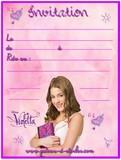 Invitation anniversaire gratuite la reine des neiges - Carte violetta a imprimer ...