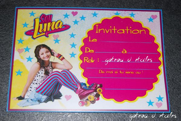 Extrêmement Carte d'invitation anniversaire Soy Luna IN68