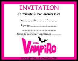 carte d'Invitation anniversaire Violetta