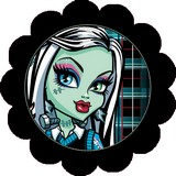 Disque d azyme monster high cupcake Frankie stein (par 4)