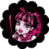 Disque d azyme monster high cupcake Draculaura (les 4)