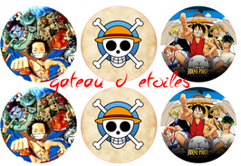 Disque azyme cupcake One piece (par 6)