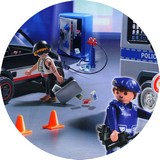 Disque azyme police playmobil