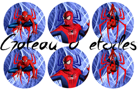 Disque azyme Marvel SpiderMan cupcakes